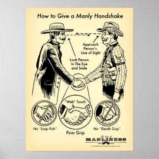 男らしい握手ポスターを与える方法 ポスター