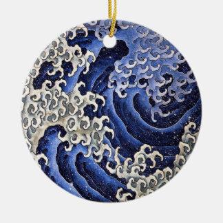 男らしい波、Hokusai セラミックオーナメント