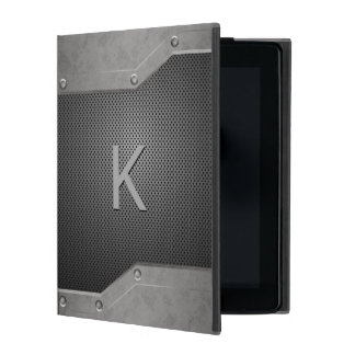 男らしい金属の一見のiPadのフォリオの箱 iPad ケース