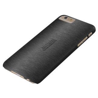男らしい金属黒はアルミニウム一見にブラシをかけました スリム iPhone 6 PLUS ケース