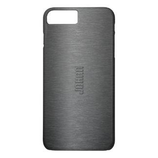 男らしい金属黒はアルミニウム一見にブラシをかけました iPhone 8 PLUS/7 PLUSケース