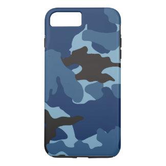 男らしく青い迷彩柄の堅い軍のカムフラージュパターン iPhone 8 PLUS/7 PLUSケース