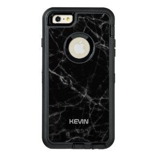 男らしく黒い大理石の質の灰色のアクセント オッターボックスディフェンダーiPhoneケース