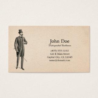 男らしさのビクトリアンな紳士の名刺の芸術 名刺