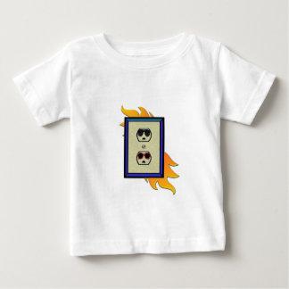 男女共学の電気出口 ベビーTシャツ