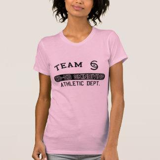 男女共学のSkindiving -女の子 Tシャツ