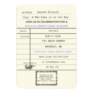 男女兼用なベビーのヴィンテージの帯出券のシャワー カード