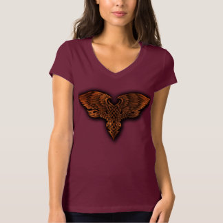 男女兼用ケルト語によって飛ぶハートのワイシャツ Tシャツ