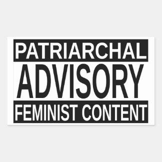 男女同権主義の内容 長方形シール