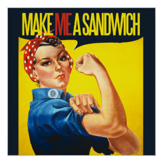 男女同権主義者は私にサンドイッチをします ポスター