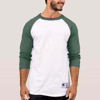 男子チャンピオンのRaglan 3/4の袖のワイシャツの緑の暗闇 Tシャツ