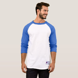 男子チャンピオンのRaglan 3/4の袖のワイシャツ、青または白 Tシャツ