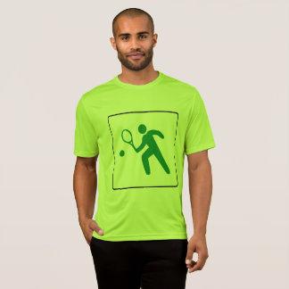 男子テニスのTシャツ: カラフルで大きいテニスのロゴ Tシャツ