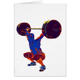 男子重量挙げ、フィットネス、Tシャツ、 カード