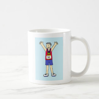 男性のための第50マラソンのお祝い コーヒーマグカップ