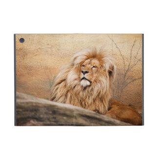 男性のライオンの写真 iPad MINI ケース