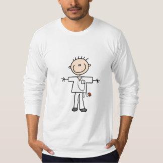 男性の棒の姿のナースのTシャツおよびギフト Tシャツ