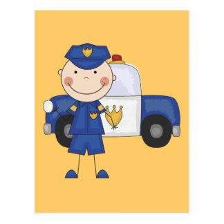 男性の警官のTシャツおよびギフト ポストカード