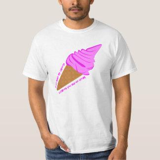 男性へおもしろいなアイスクリームのTシャツ Tシャツ