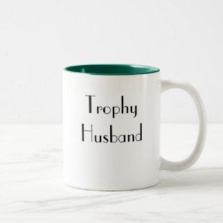 男性へギフト-トロフィの夫のコーヒー・マグ ツートーンマグカップ