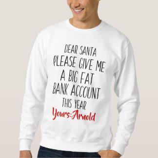 男性へクリスマスの休日のサンタのおもしろいなスエットシャツ スウェットシャツ