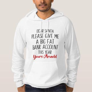 男性へクリスマスの休日のサンタのおもしろいなフード付きスウェットシャツ パーカ