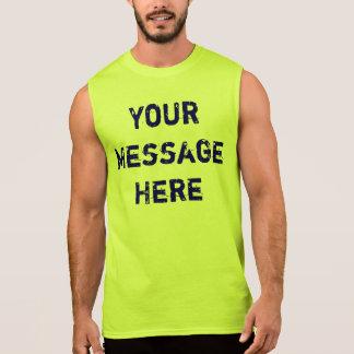 男性へネオンタンクトップをカスタマイズ 袖なしシャツ