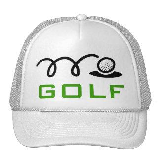 男性へ白いゴルフ帽子および女性 メッシュ帽子