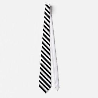 男性へ白黒ストライプのなタイ オリジナルネクタイ