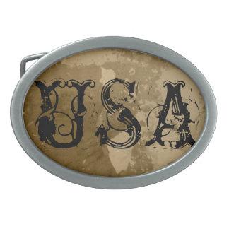 男性へ西部のスタイルのベルトの留め金および女性 卵形バックル
