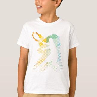 男性へ軽いテニスのTシャツ女性および子供 Tシャツ
