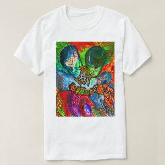 男性へ週24の腸のサーカスの白いTシャツ Tシャツ