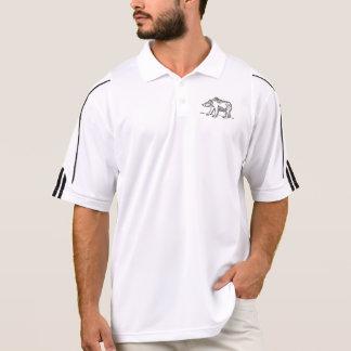 男性アディダスのゴルフポロシャツ-灰色グマ ポロシャツ