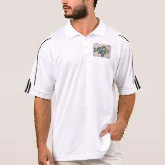男性アディダスのゴルフCLIMALITEポロ-熱帯魚 ポロシャツ