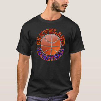 男性クリーブランドのバスケットボールのワイシャツ Tシャツ