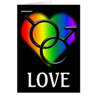 男性ゲイプライドカード名前入りな愛カード カード