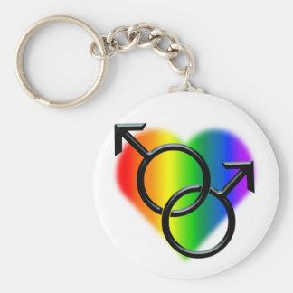 男性ゲイプライドKeychainの虹愛ギフト キーホルダー