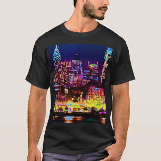 男性フィラデルヒィアのスカイラインのTシャツ Tシャツ