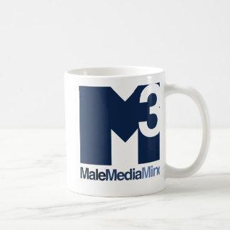 男性媒体の心の主要なロゴのマグ コーヒーマグカップ