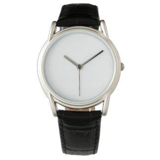 男性用クラシックで黒い革バンドの腕時計 腕時計