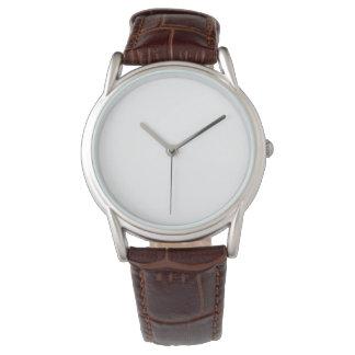 男性用クラシックなブラウンの革バンドの腕時計 腕時計