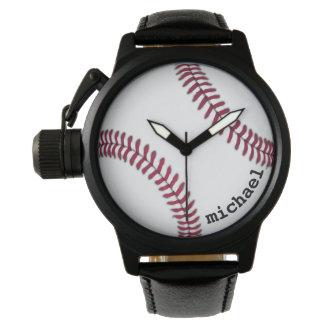 男性用女性の野球の腕時計の名前入りなギフト 腕時計
