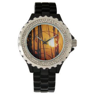 男性用熱帯日没の腕時計 腕時計