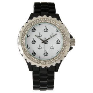 男性用航海のなテーマの腕時計 リストウォッチ