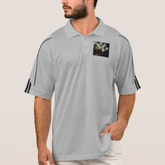 男性Addidasのプルオーバー ポロシャツ