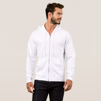 男性Bella+キャンバスの全ジッパーのフード付きスウェットシャツ パーカ