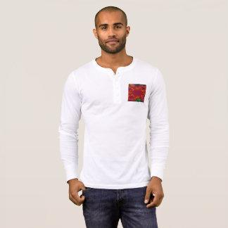 男性Bella+キャンバスのHenleyの長袖のワイシャツ Tシャツ