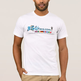 男性BGWFansのロゴT Tシャツ
