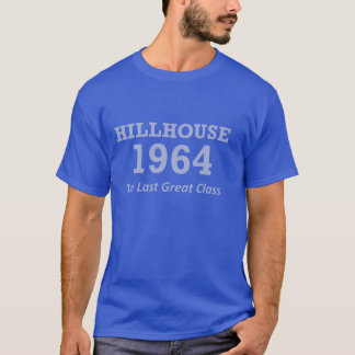 男性Hillhouse 「64の明るく青いTシャツ Tシャツ
