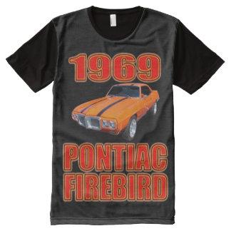 男性Pontiac Firebird オールオーバープリントT シャツ